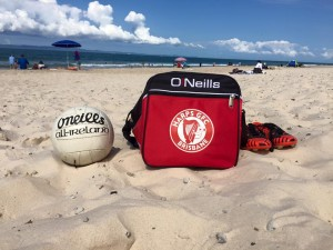 Harps beach ball and bag