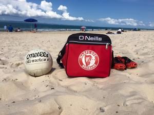 Harps beach ball and bag